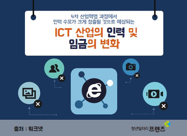 ICT산업의 인력 및 임금의 변화